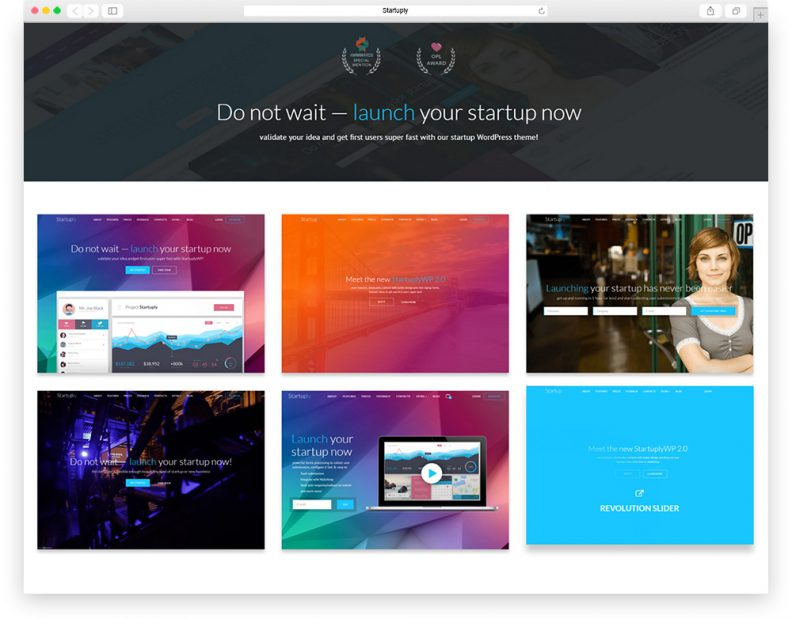 startuply showcase theme