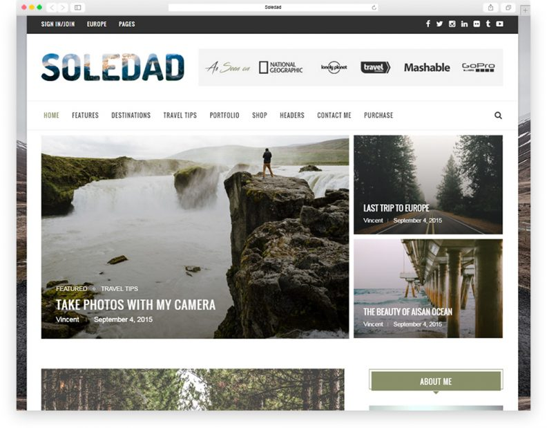 Soledad-travel-theme