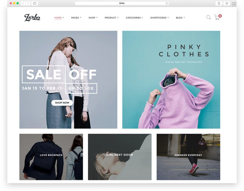 Zorka fashion theme