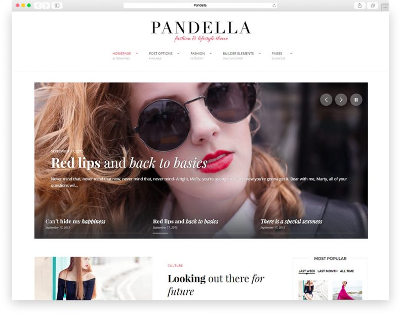 Pandella fashion theme