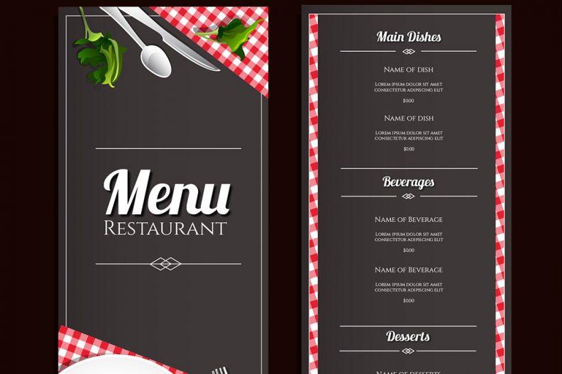 Top 15 free restaurant menu psd templates for cuisine for X cuisine miri menu