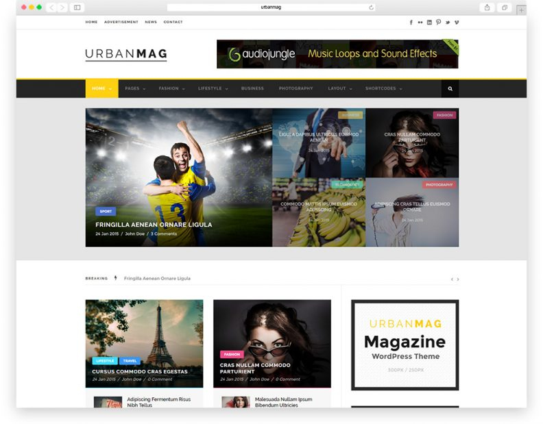 urbanmag adsense optimized theme