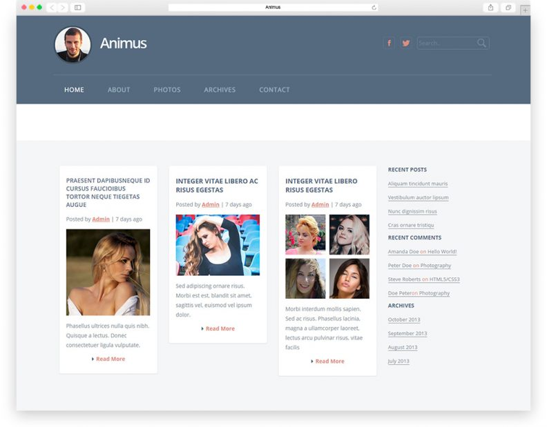 top 15 best free html css3 bootstrap blog templates 2016 libthemes
