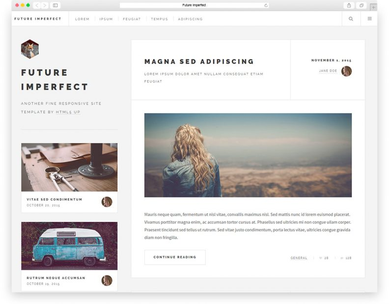 Top 15 Best Free HTML & CSS3 Bootstrap Blog Templates 2019