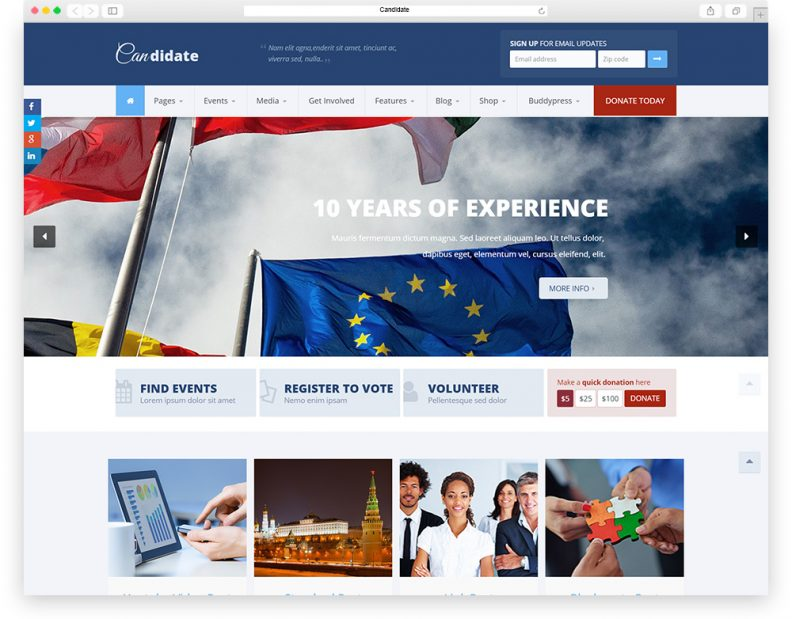 top 10 best political wordpress themes 2016 edition libthemes