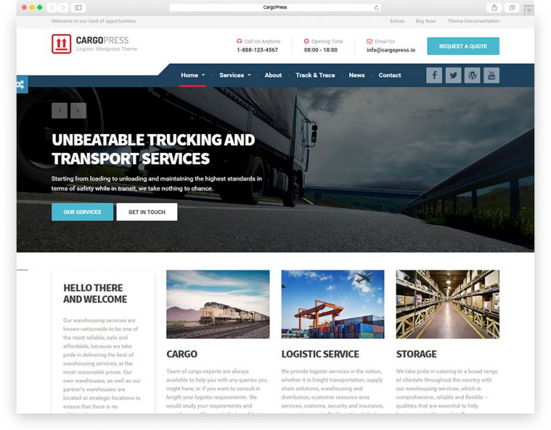 Top 10 Best Transportation And Logistics HTML Website Templates 2019