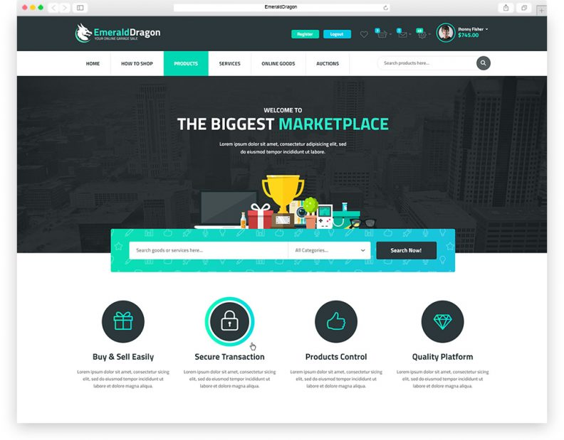 Top 15 Best Premium eCommerce PSD Templates for your Online Store