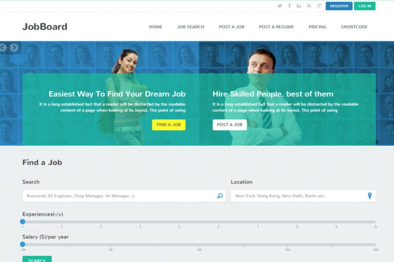 top 10 best job board html5 website templates 2016 edition