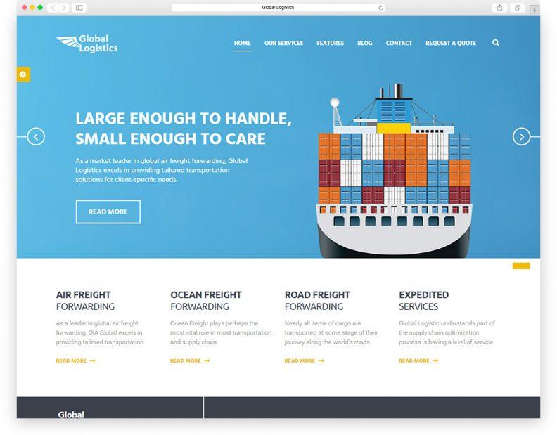 Top 10 Best Transportation And Logistics HTML Website Templates 2019
