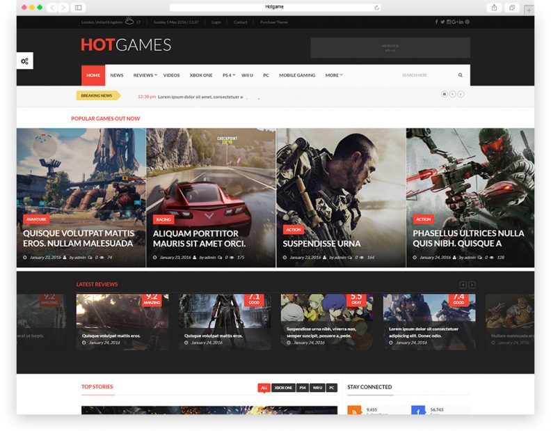 Top 15 Best Gaming WordPress Themes for Gamers and Games Magazines ...