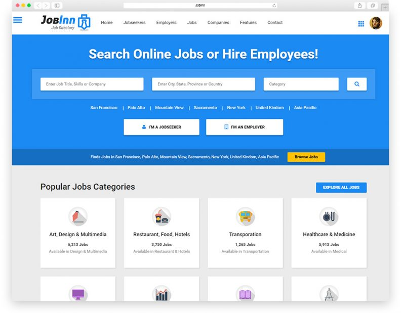 Top 10 Best Job Board HTML5 Website Templates 2016 Edition - Libthemes