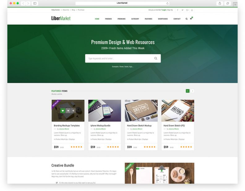 Top 7 Best Marketplace PSD Templates 2016 Edition - Libthemes
