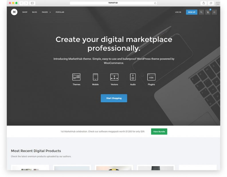 Top 10 Best Digital Marketplace WordPress Themes for selling