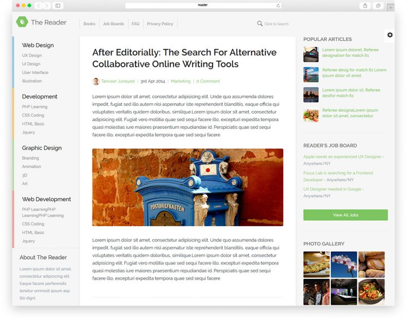Top Best Responsive Blog Website Templates For Bloggers And - Photo sharing website template