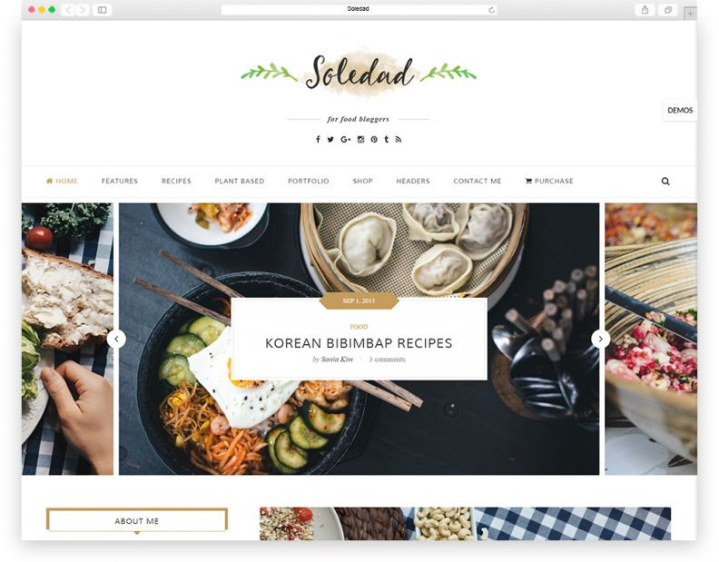 Top 15 best food wordpress themes for recipes food network website if you are looking for a food wordpress theme that possesses both a flat clean design and high functioning features for a full fledged restaurant website forumfinder Choice Image