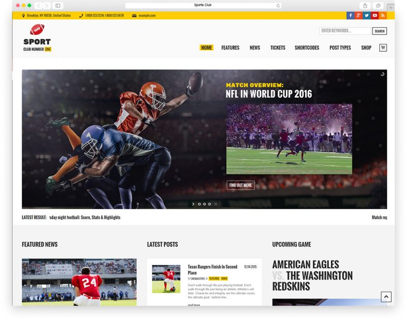 Top 15 Best Sport WordPress Themes for Sport News & Magazine, Sport ...