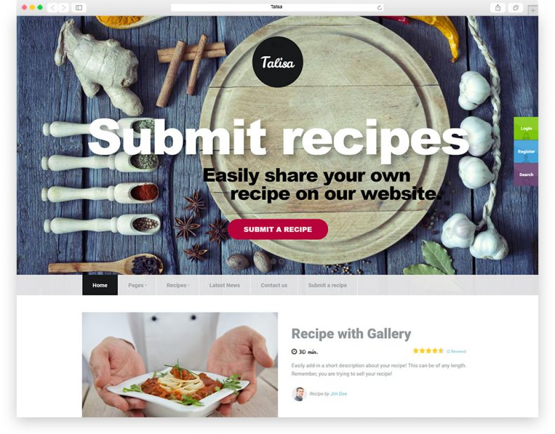Top 15 best food wordpress themes for recipes food network website talisa is a sophisticated food recipes wordpress theme show off your work with this easy to customize and fully featured talisa wordpress theme forumfinder Image collections