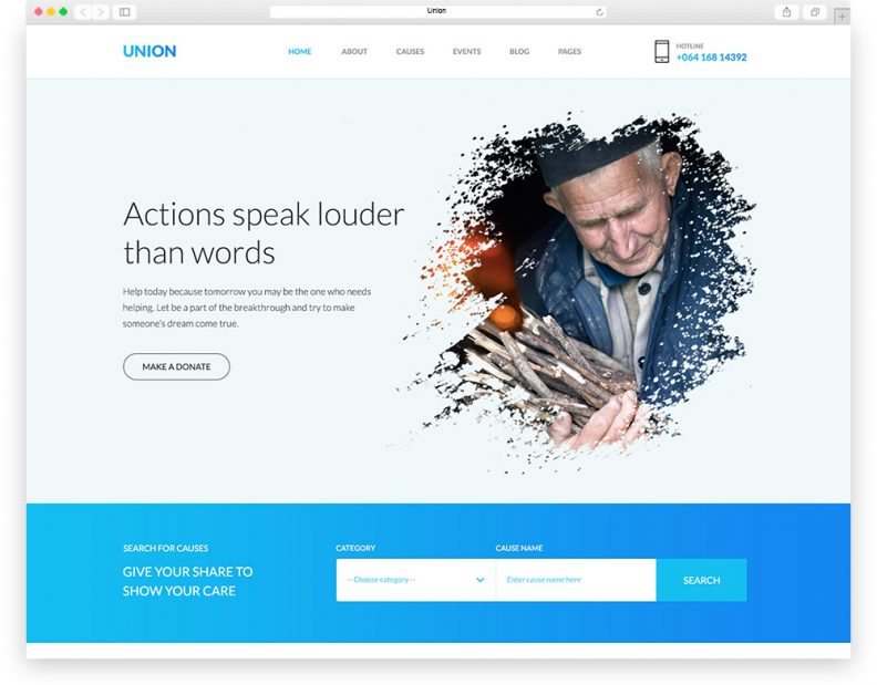 union is relevant and significant psd template that is crafted for charity hubnon profit organization and other related niche site in the industry