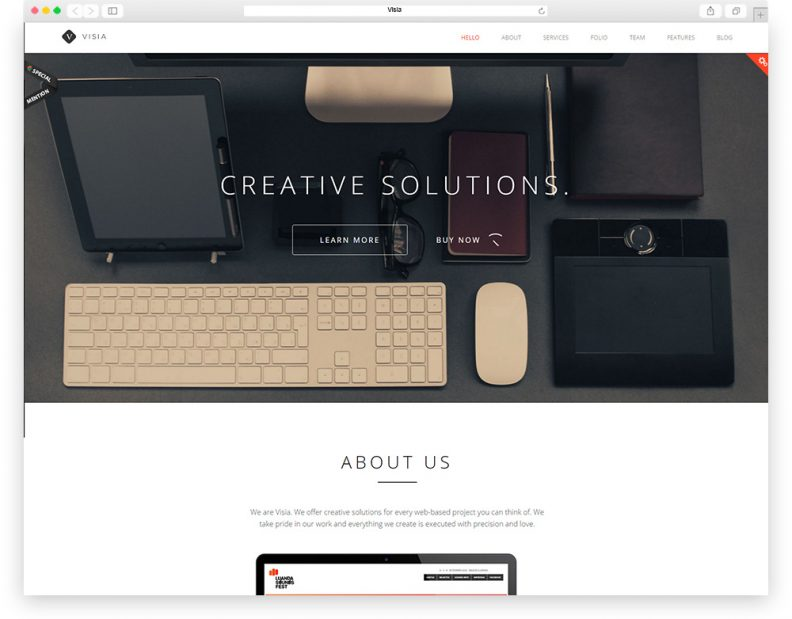 Top 15 best html 5 one page website templates 2016 edition libthemes visia is a impressive one page parallax wordpress template that serves well as portfolio the design is fully responsive and retina ready single page maxwellsz