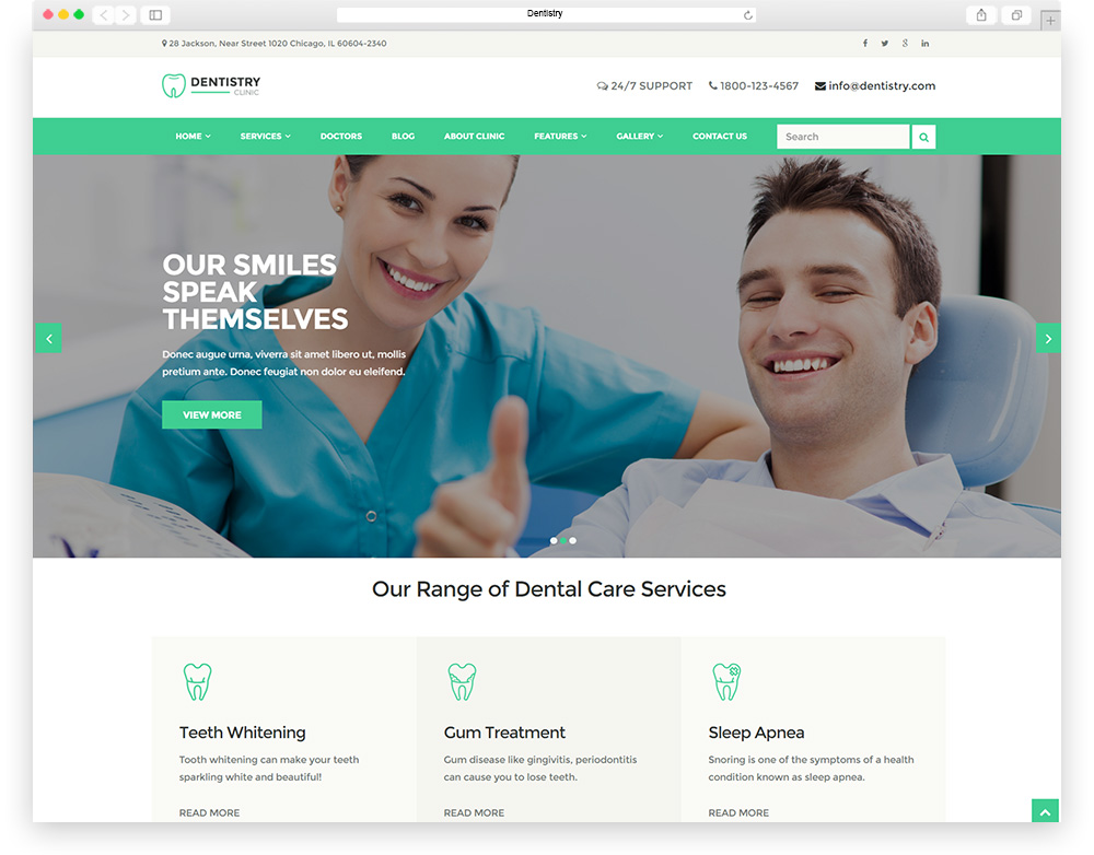 top 10 most popular dental wordpress themes for dentists
