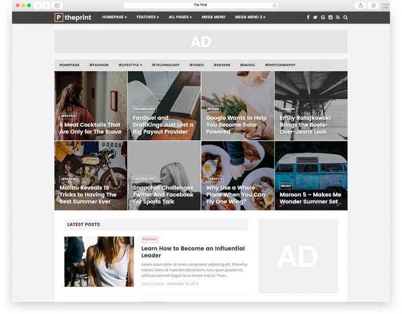 top 15 best simple and clean blog magazine wordpress themes 2016